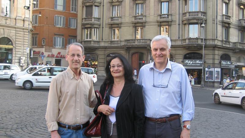 Neal, Diana, and Enrico (Vito), Rome