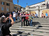 Palermo fans, Spanish Steps, Rome