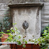 Cortona - a unique decorative fountain, which was located in the patio adjacent to a restaurant where I had lunch one afternoon.