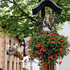 Castelrotto - an interesting floral decoration located in the centre of town.