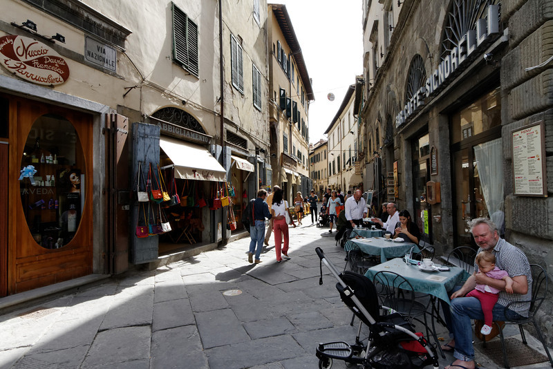 Cortona - this is Via Nazionale, which is one of the main routes leading to Piazza della Repubblica.  My Hotel was at the other end of this, so I walked this route frequently.