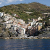 Cinque Terre / Riomaggiore - this is a view of this beautiful and unique town as seen from the water.