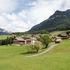 Castelrotto - this is a view of some of the houses on the outskirts of the town, showing some of the incredible scenery.