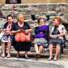 Vernazza - some of the ladies having an afternoon visit, something they probably do on a regular basis.