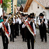 Castelrotto - this marching band was apparently part of a festival dedicated to the young single men of the town.  The marching performance was followed by a Church service and then everyone proceeded to a Beer Garden.