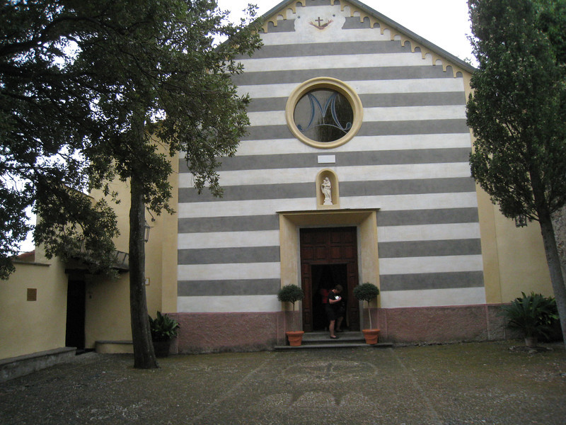 Monterosso - this is the Church of San Giovanni Battista, which is located on a rocky hill above the town.