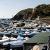 Cinque Terre / Levanto - these are some of the many boats which were stored at the opposite end of the beach shown in the previous photo.