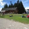 Castelrotto - this is the small restaurant at Marinzen, which is above Castelrotto and reached by a short Chairlift ride.  There are lawn chairs set up around the restaurant, and there's also a small petting zoo.