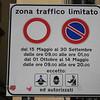 Italy - ZTL sign