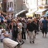 Vernazza - some of the crowds that are typical during the day.