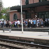 Monterosso - the cruise ship and tour group hordes waiting for a train in the afternoon.
