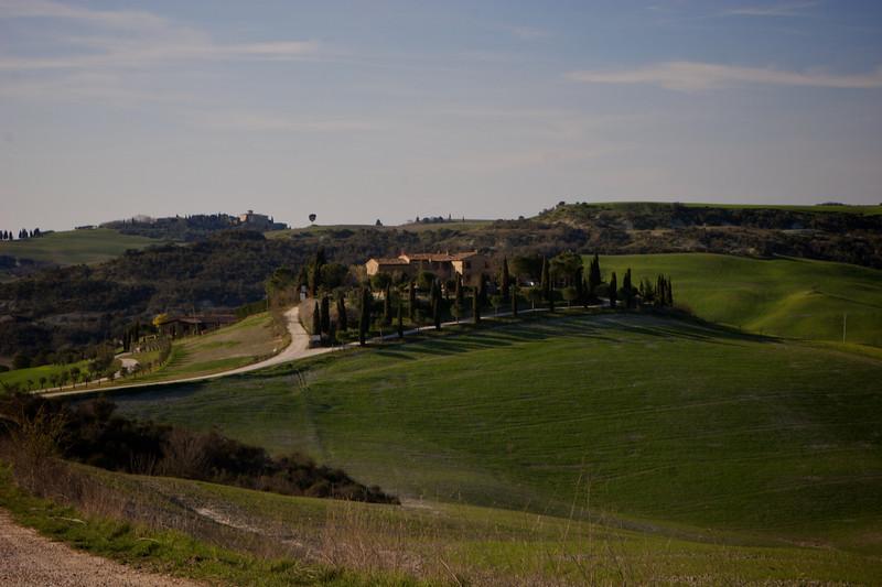 Camino desde Montepulciano a Montalcino