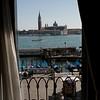 Esta es la vista del cuarto del Hotel a 2 cuadras de Piazza San Marco