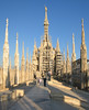 00aFavorite On top of Duomo di Milano - walking toward large central spire