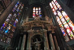 Inside Duomo di Milano - 2nd largest Roman Catholic Cathedral in world