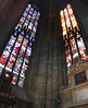 Inside Duomo di Milano - Two stained glass panels