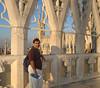Me (poor expression) atop Duomo di Milano