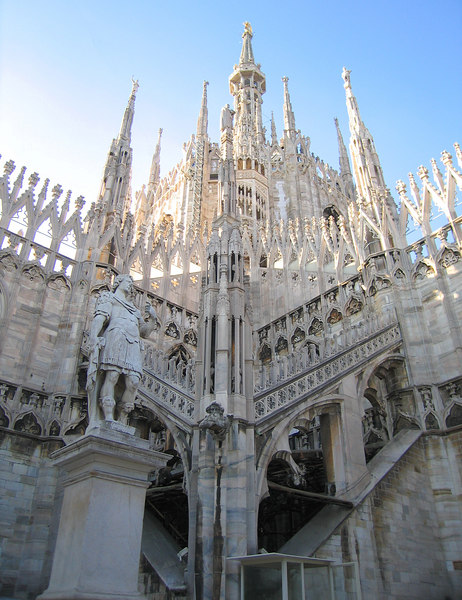 On top of Duomo di Milano - Many spires, a sculpture