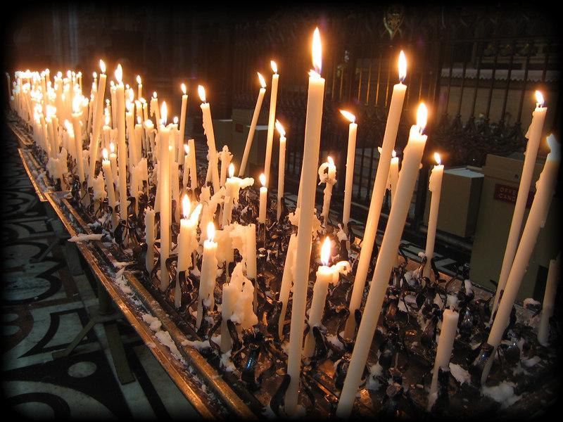 Inside Duomo di Milano - candles [borderfade4]