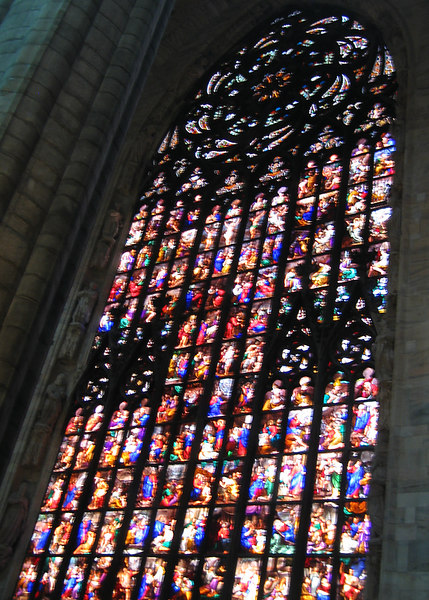 Inside Duomo di Milano - Large Stained Glass panel