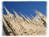 Tilted gothic spires of Duomo di Milano [edgefade10 frame]