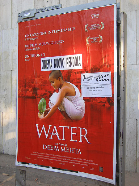 Film 'Water' (one of our recent favorites) playing in Siena