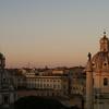 Vista al atardecer de Roma