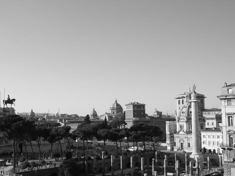 Panorama de Roma en B/N