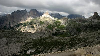 D_033 Tre Cime zicht richting Monte Rudo