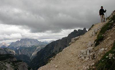 D_034 Tre Cime zicht in de Val Rinbon en Valle della Riénza