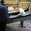 Last remaining gondola workshop, Venice
