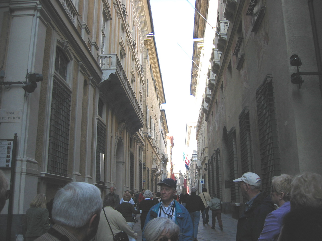 Walking the streets of Genoa.