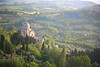 Montepolciano, Italy.  Amazing view of the valley below.