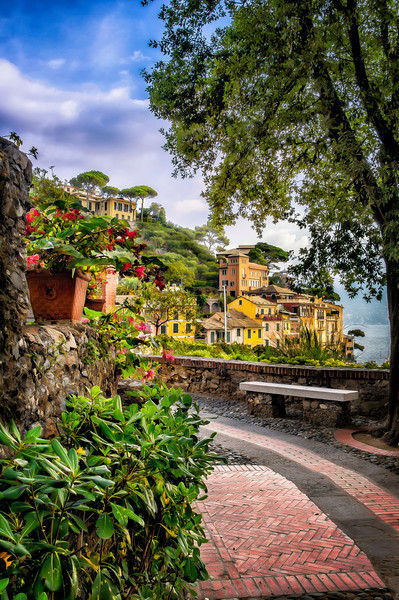 ~Portofino~<br /> <br /> The walk up the hill overlooks down on stunning Portofino.