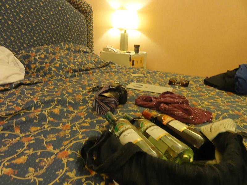 Three bottles of wine too many