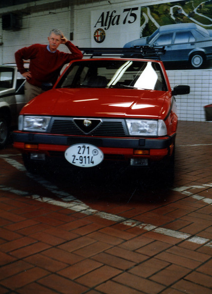 We took delivery of our Alfa Romeo Milano in Frankfurt April of 1986 with a dozen other Americans eager to be the first few to own Alfa's first V6 sedan. Anne and I drove the car for nearly a month before shipping it to the U.S. It arrived in Vancouver, WA nearly three months before the first Milano models reached U.S. dealerships. We still own this low-mileage car and drive it just a few weeks in the summer.