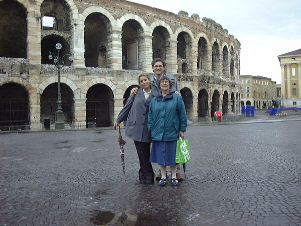 Anne, Federica and Massimo, Verona