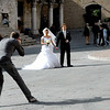 One afternoon while waiting to meet our friend Anna Maria Clemente, a limo pulled up with a bride, groom and two photographers for a wedding shoot in front of the Fontana Maggiore in Perugia's Piazza Grande. I captured the moment with a Nikon D200.