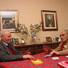 Grandfathers Beppe and Nando at cards at Rossetti home in Padova.