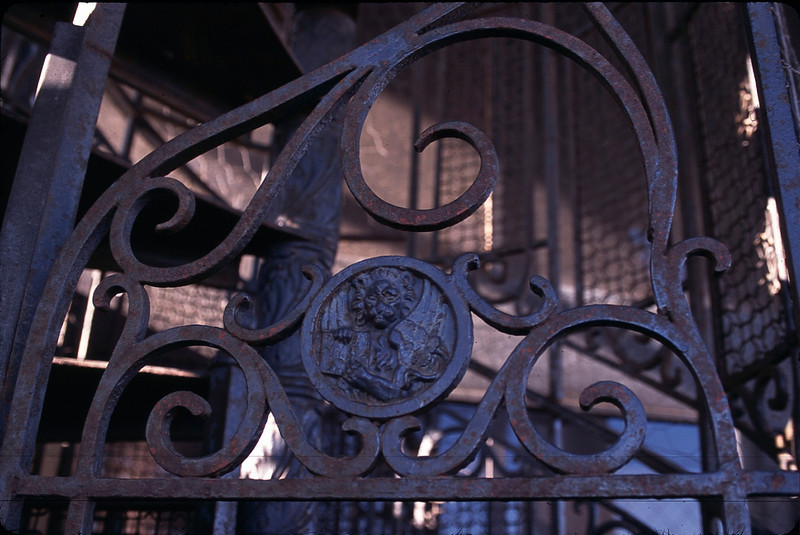 The lion symbolizes St. Mark. This one is on a gate in the campanile in Piazza San Marco.