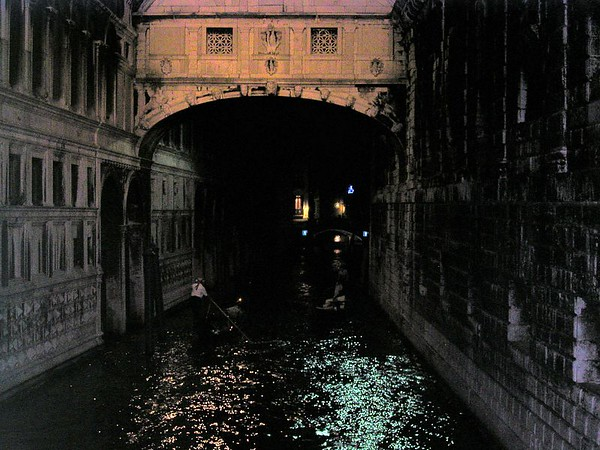 First glimpse of a Venice canal The Rio di Palazzo and the Bridge of Sighs