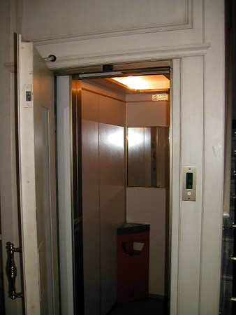Elevator Capacity – 4 people (yeah, right)