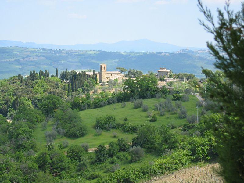 View from Hotel Vecchia Oliveiria, Montalcino