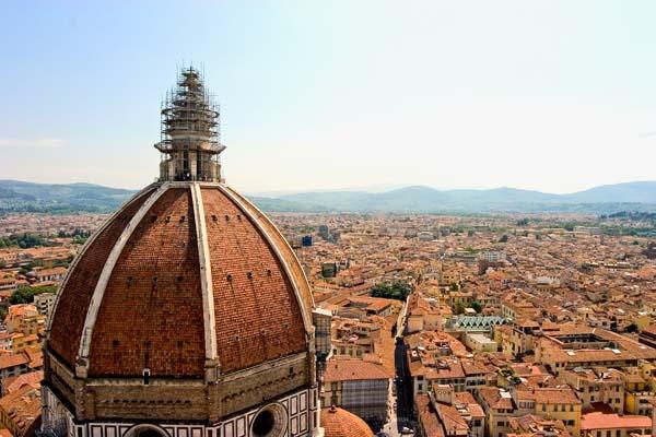 Florence Skyline-Duomo Dome-13x19