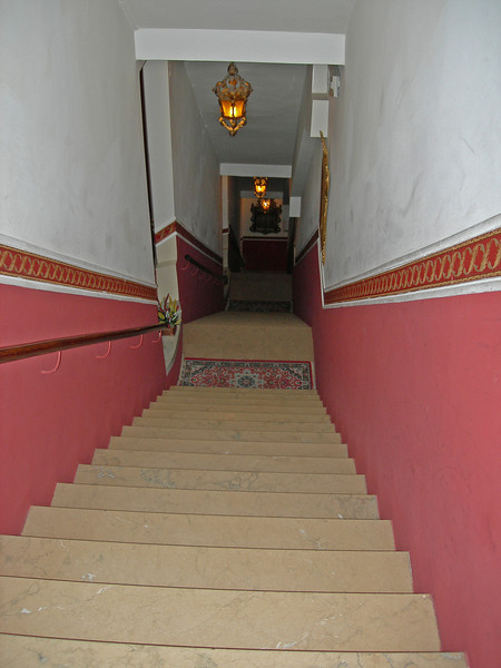 Venice hotel with stair case