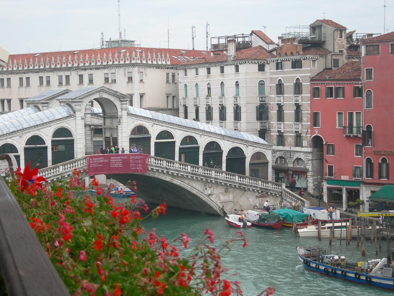 Venice hotel view - Rialto bridge