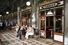 Venice, Cafe Florian - this was inaugurated in 1720 and is one of the oldest Cafes in Italy.  Cafe Florian has been patronized by many famous people including Casanova and Lord Byron, among others.