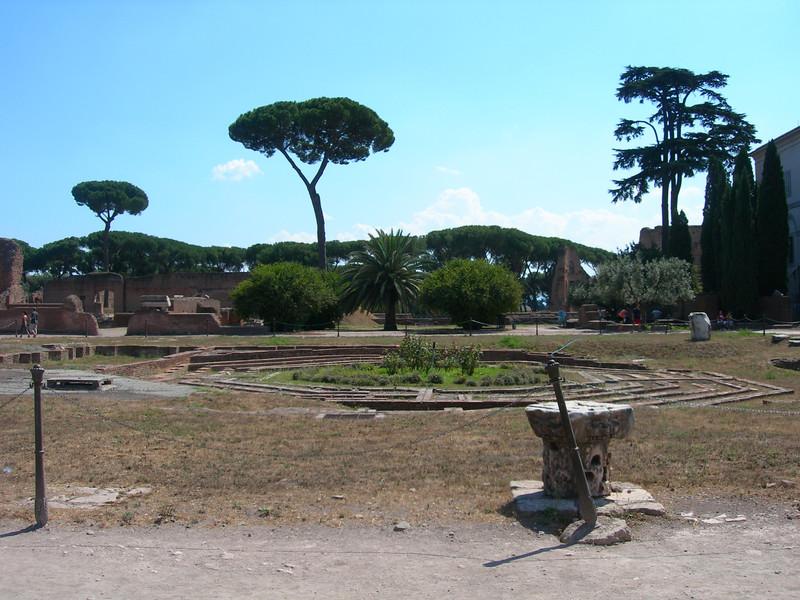 Peristilium in the Domus Flavia.
