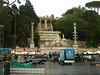 Fountain in the Piazza del Popolo.