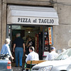 Our first pizza in Italy.